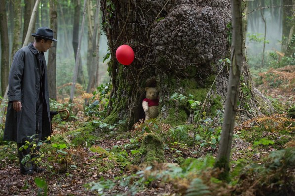 Christopher Robin (Ewan McGregor) and his longtime friend Winnie the Pooh in Disney's live-action adventure CHRISTOPHER ROBIN.