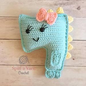 Crochet Blue T-Rex