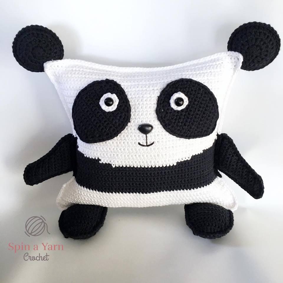 Pudgy Panda Plushie Free Crochet Pattern • Spin a Yarn Crochet