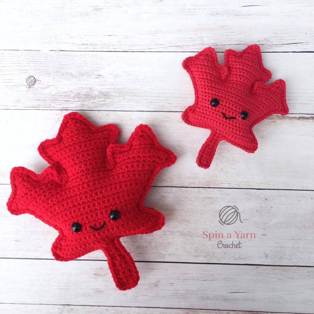 Maple Leaf Amigurumi Free Crochet Pattern • Spin a Yarn Crochet
