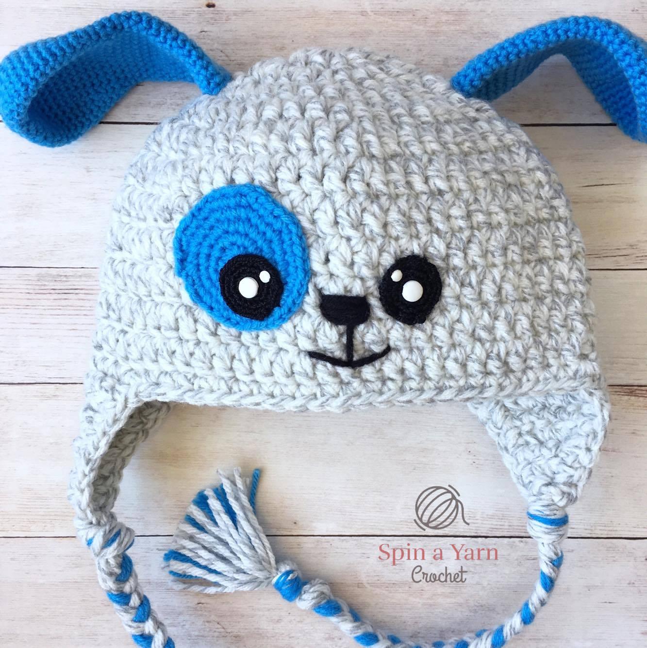 Puppy hat free crochet pattern spin a yarn crochet puppy hat bankloansurffo Gallery