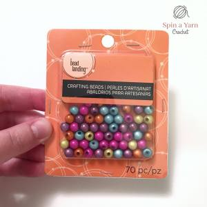 Package of colourful beads