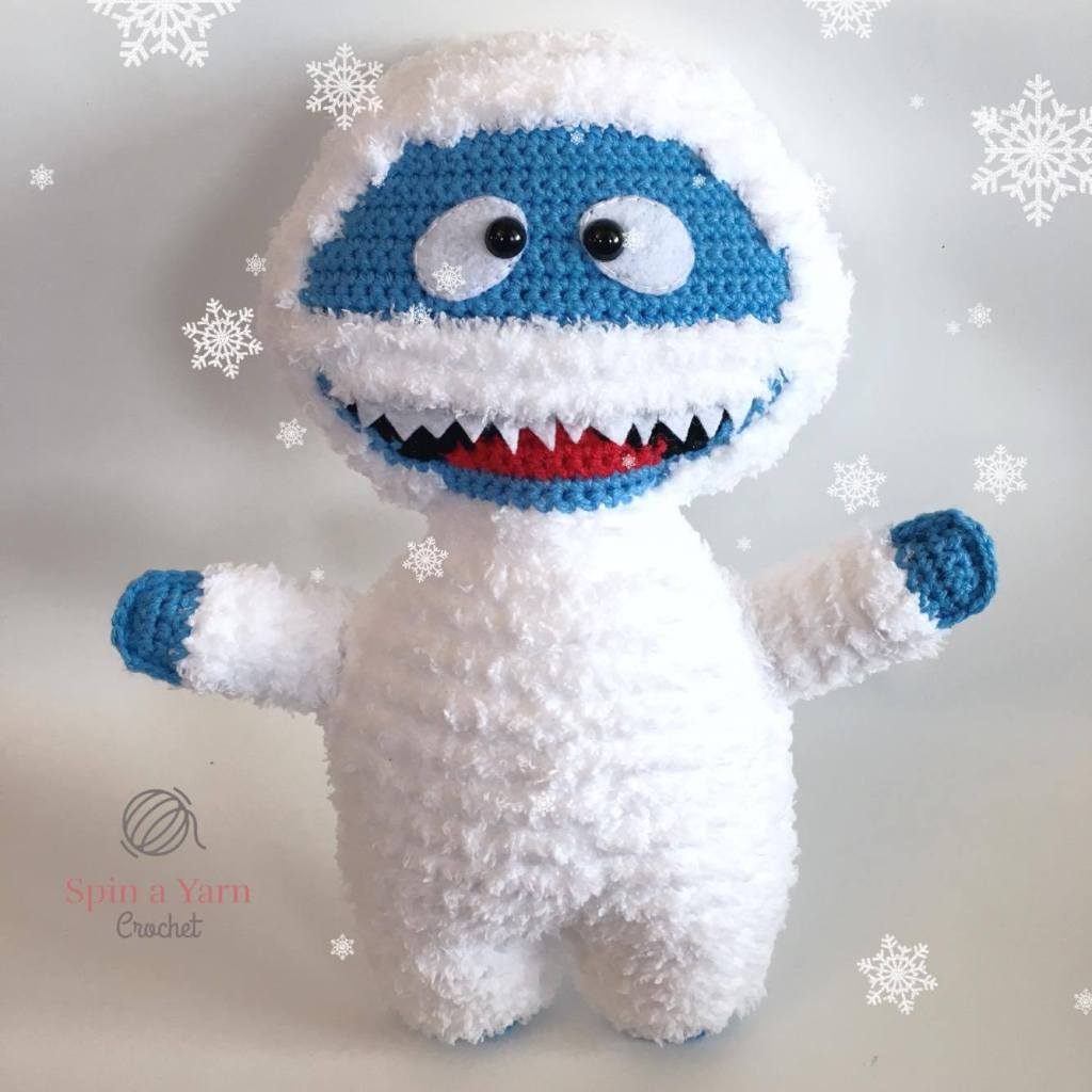 Bumble with snowflakes