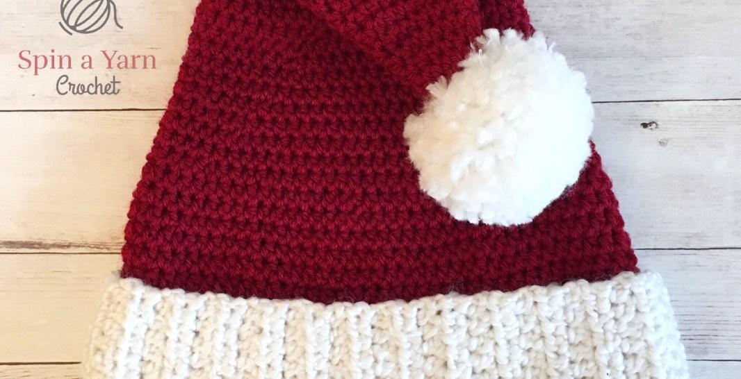 Santa Hat Free Crochet Pattern Spin A Yarn Crochet