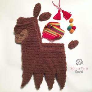 Disassembled llama pieces
