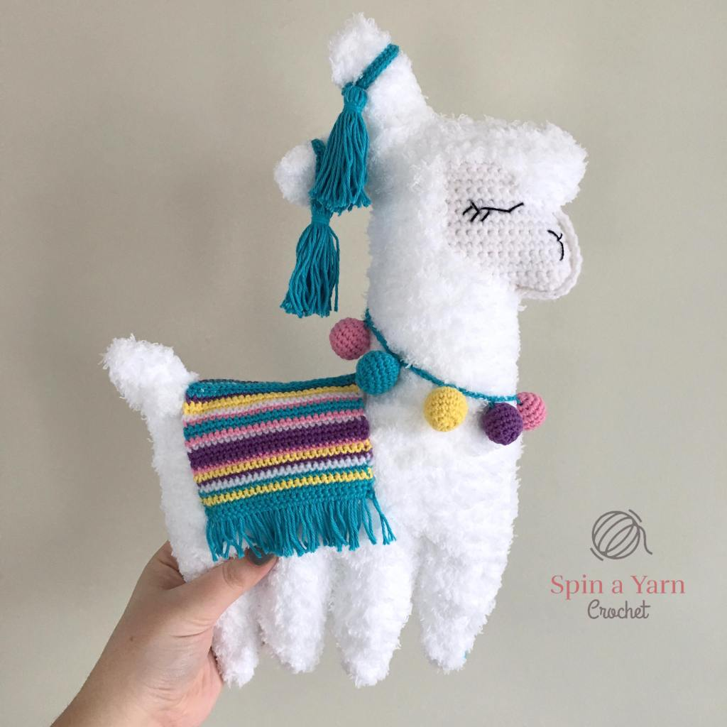 Completed white llama