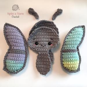 Crochet butterflies pieces