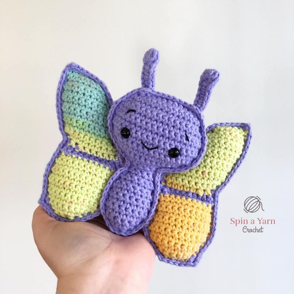 Purple crochet butterfly