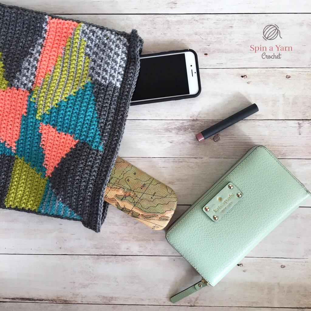 Clutch with purse items