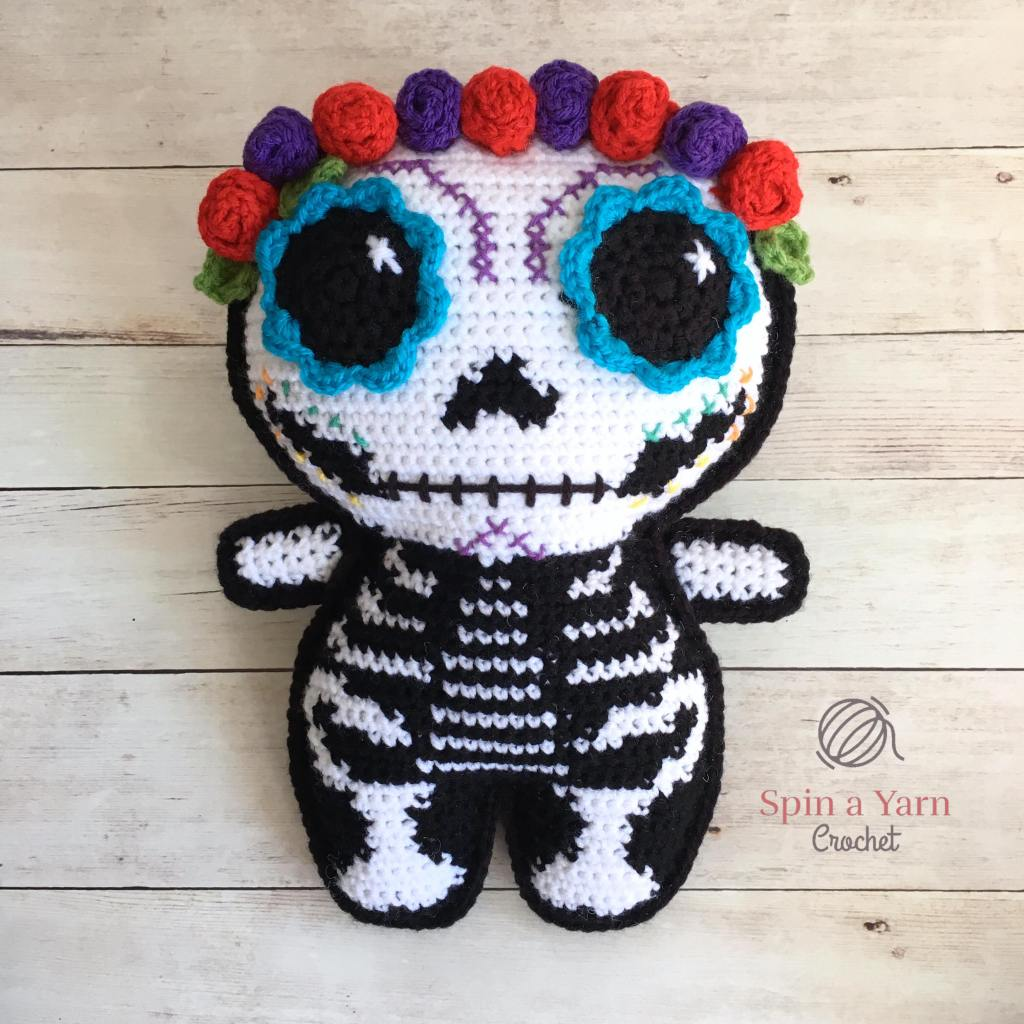 Completed sugar skull ami