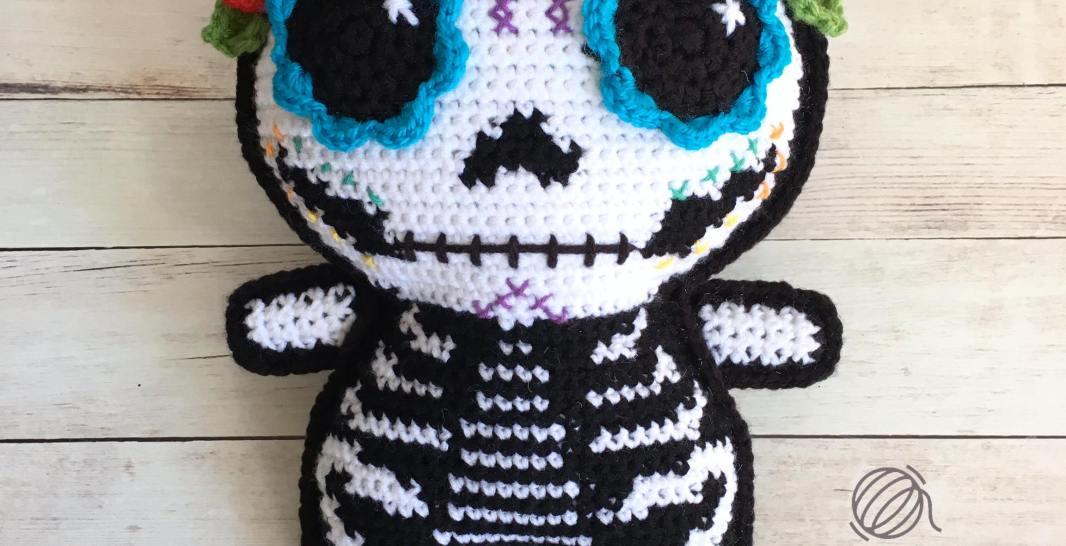 Sugar Skull Amigurumi Free Crochet Pattern Spin A Yarn Crochet