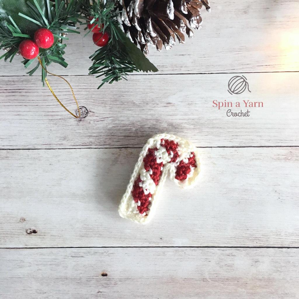Red and white candy cane ornament