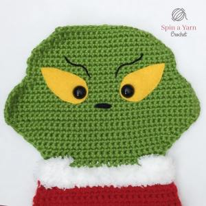 Grinch face with eyebrows