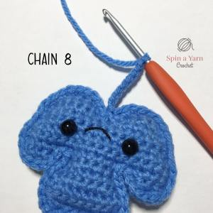 partially crocheted stem
