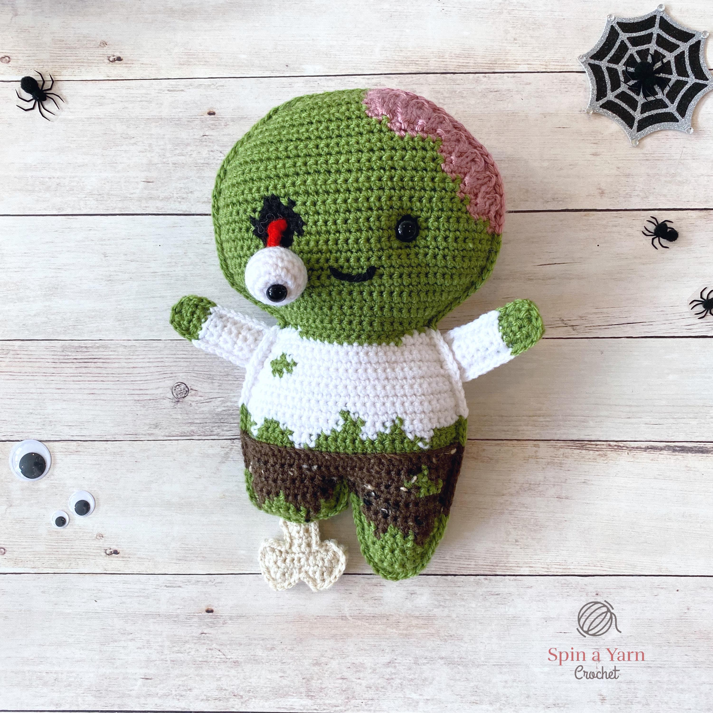 Crochet Pattern Brain Cupcake Amigurumi Brain Cupcake pdf tutorial