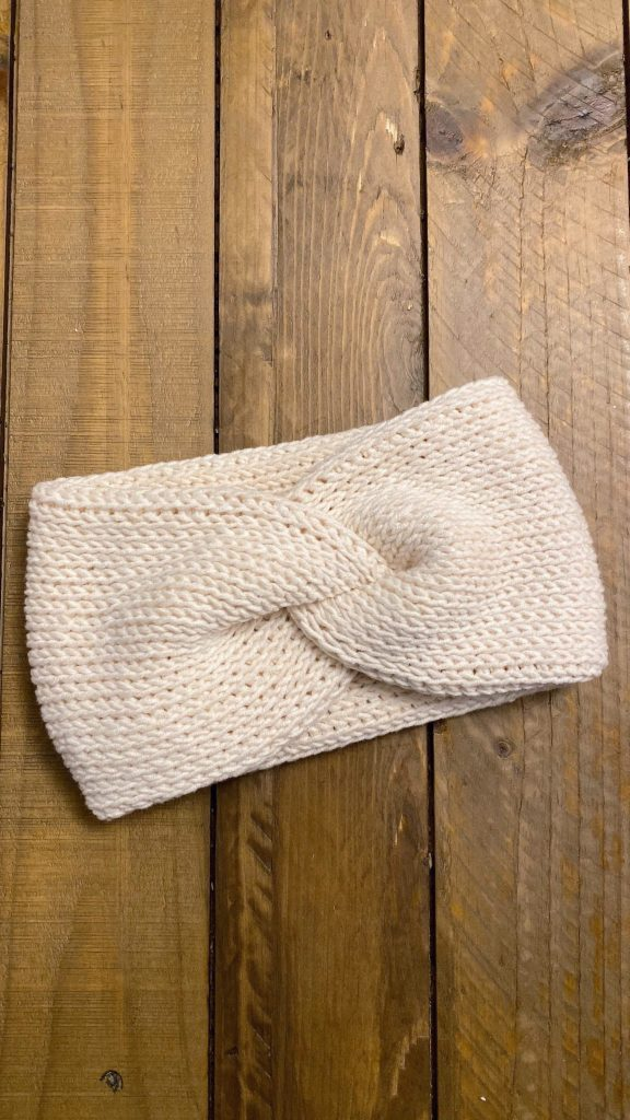 Tunisian Twist Ear Warmer