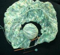 Sheila's handblown glass shawl pin