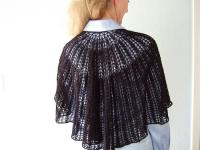 Cris's Julia shawl in Jade Sapphire black cashmere
