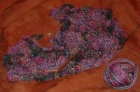 Silkie scarf before blocking