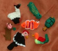 handknit fingerpuppets from Peru