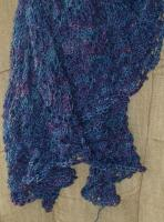 Mother of the Groom shawl, Camelspin in UV