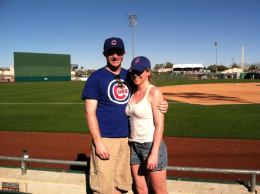 Cubs Fans at a Spring Training Game