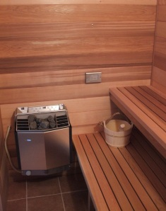 Indoor Sauna built into Residence