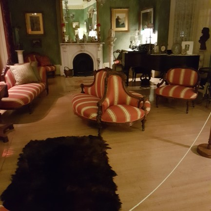 Drawing room off the main entrance where most of the entertaining was done