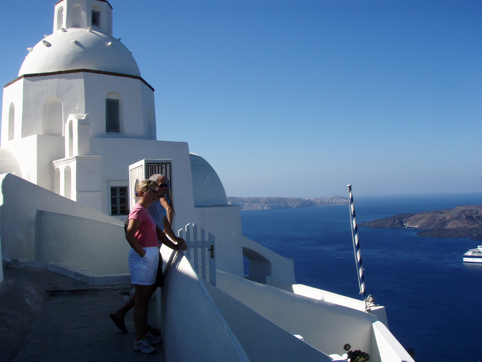 at Thira on Santorini