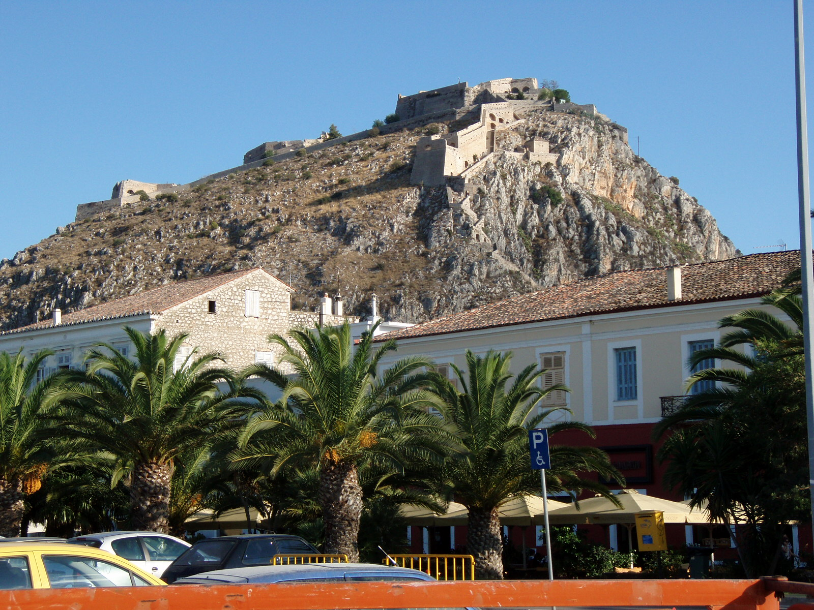 the Palamidi fortress in Nafplio