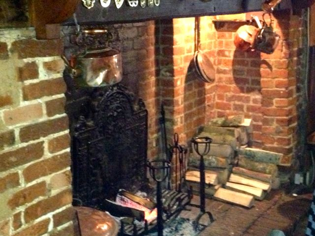 fireplaces you can get lost in (Woolpack Inn, Chilham)
