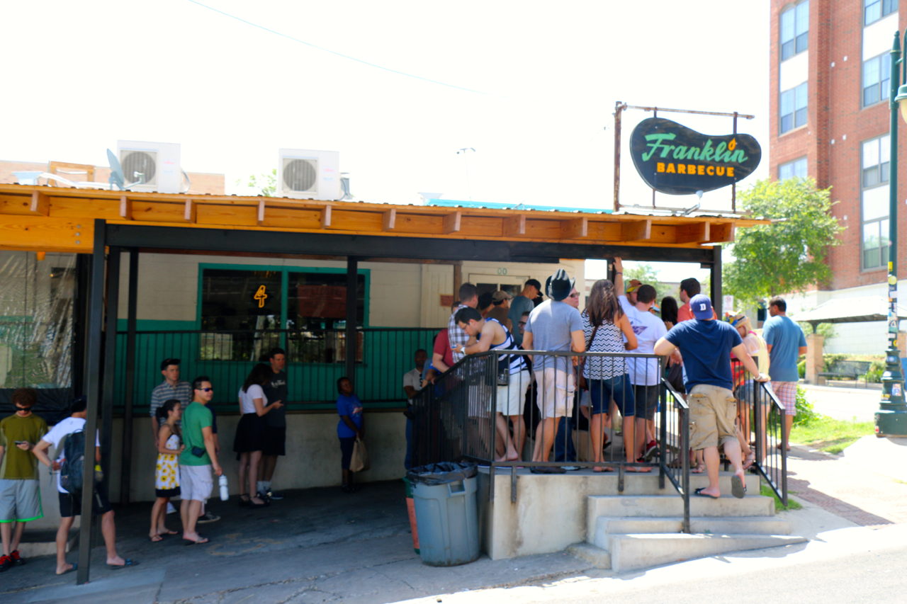 Franklin Barbecue: the line