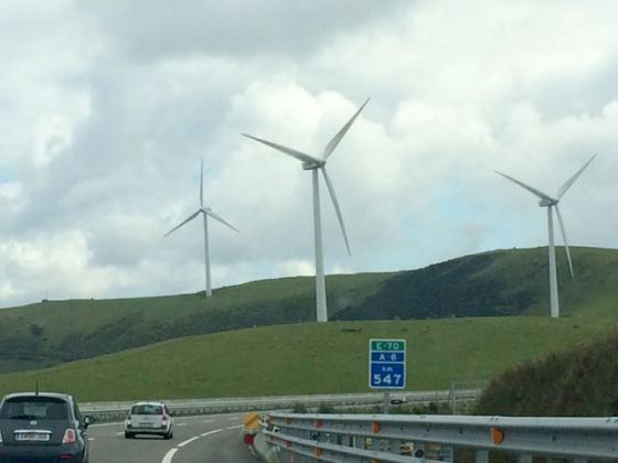 wind turbines in Asturias