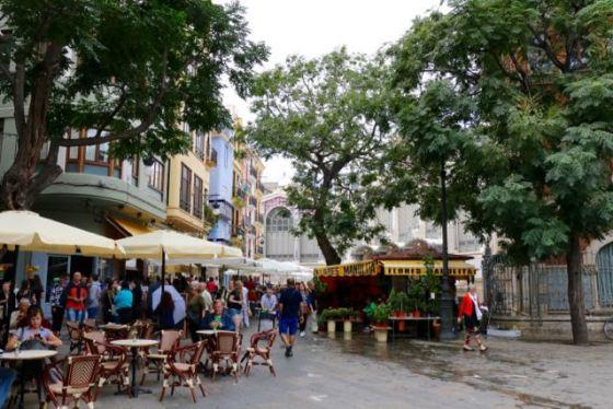 typical Spanish street life