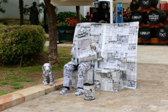 newspaper man