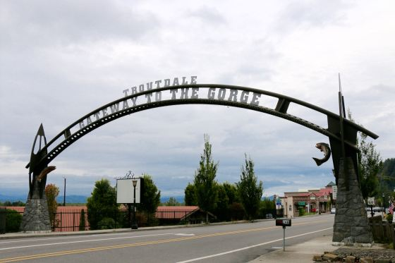 Gateway to the Columbia Gorge--Troutdale, just east of Portland.