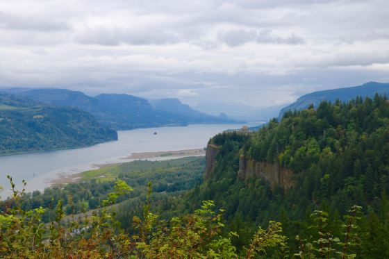 The Gorge, looking east from Chanticleer Point.