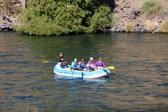 Rafters on the Deschutes River