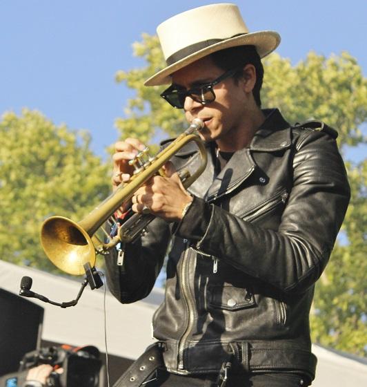 Spencer Ludwig on trumpet.