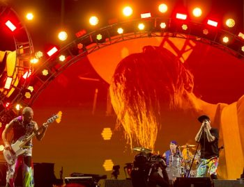 Red Hot Chili Peppers' hit after hit after hit = a good time had by all. (Photo credit: BottleRock Napa Valley / Latitude 38 Entertainment)