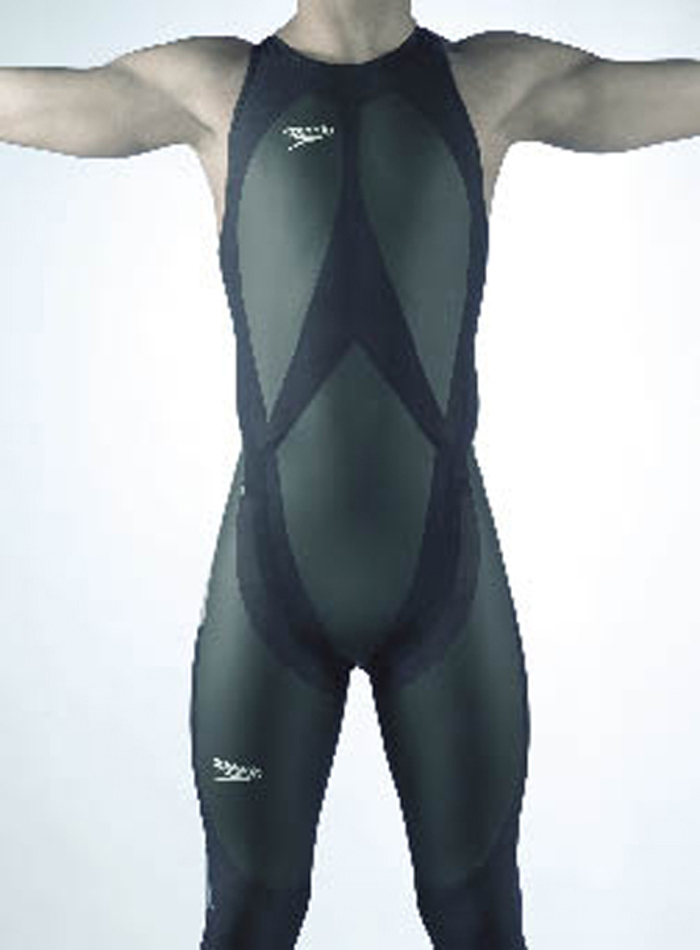 LZR Racer swimsuit covering the torso and legs of a swimmer
