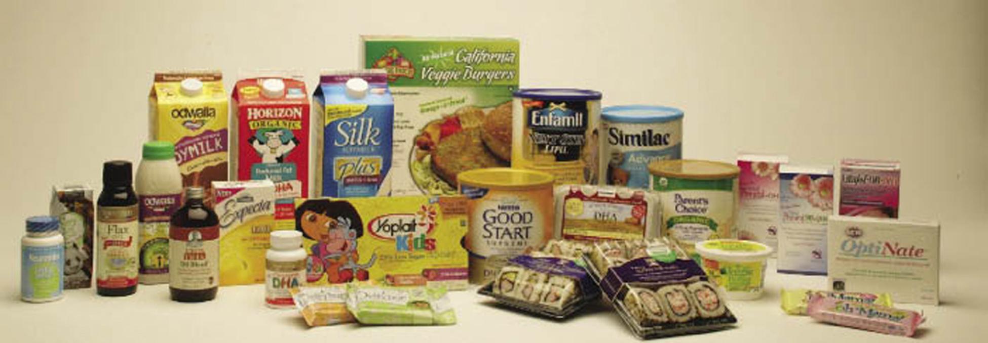 Food products containing arachidonic acid (ARA)