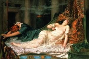The Death of Cleopatra, by Reginald Arthur. 1892