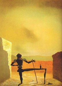 The Ghost of Vermeer of Delft Which can be Used as a Table, Salvador Dali. 1934.
