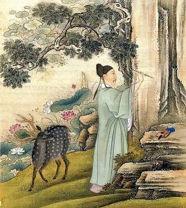 Yongzheng Emperor and Deer. China. 1723-1735