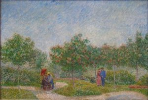 Garden With Courting Couples. 1887. By Vincent Van Gogh