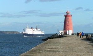 The Poolbeg Lighthouse, Ringsend, Dublin.