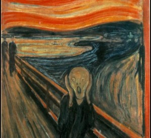 Edvard Munch's The Scream. 1893