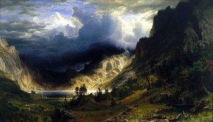 Storm in the Rockies, by Albert Bierstadt. 1866