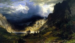 Storm in the Rockies, by Albert Bierstadt. 1866
